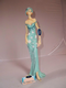 Juliana Collection Broadway Belle Figurine Teal Dress Standing with Clutch Bag in Hand 58203
